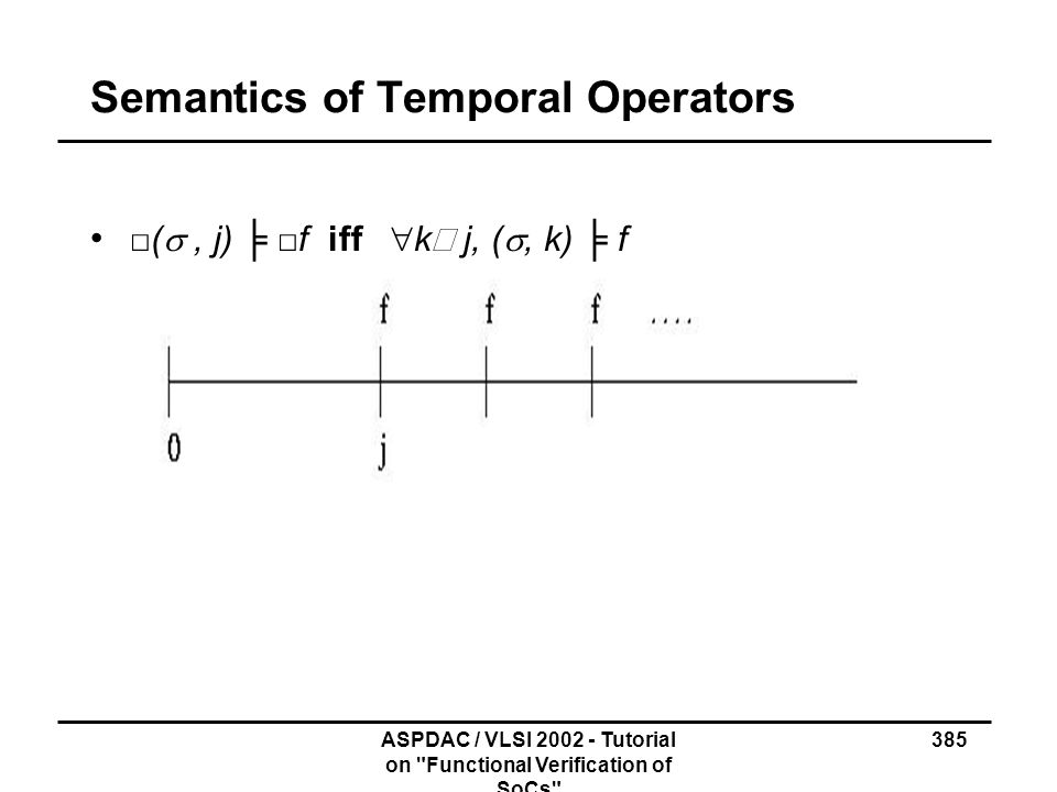 Semantics of Temporal Operators