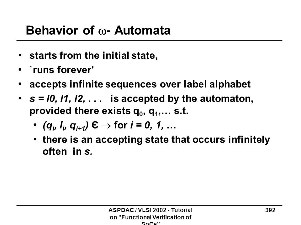 Behavior of w- Automata