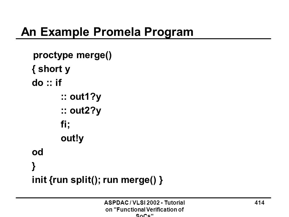An Example Promela Program