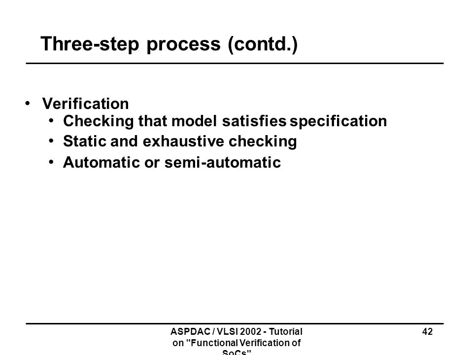 Three-step process (contd.)