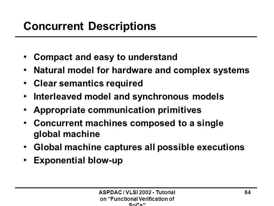 Concurrent Descriptions