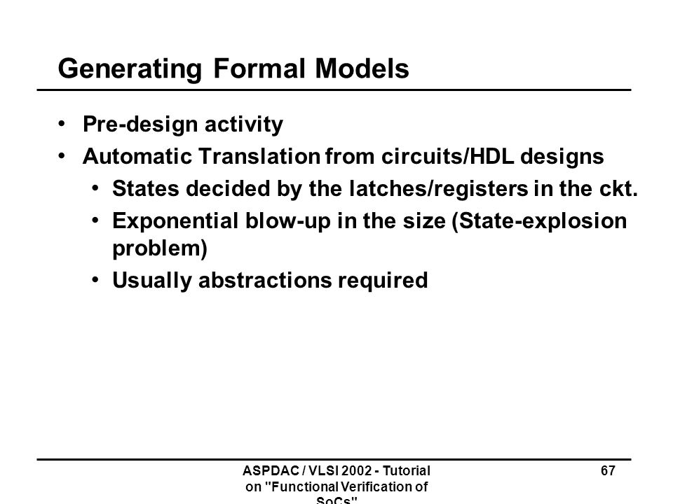 Generating Formal Models