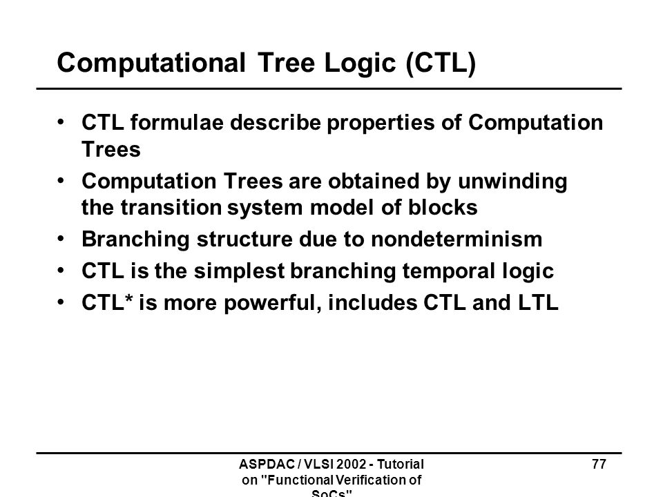 Computational Tree Logic (CTL)