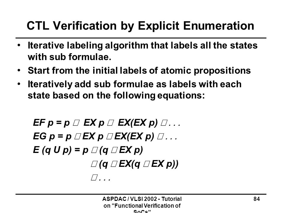 CTL Verification by Explicit Enumeration