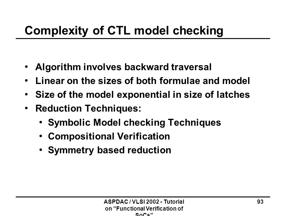 Complexity of CTL model checking