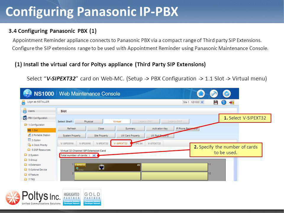 Configuring Panasonic IP-PBX