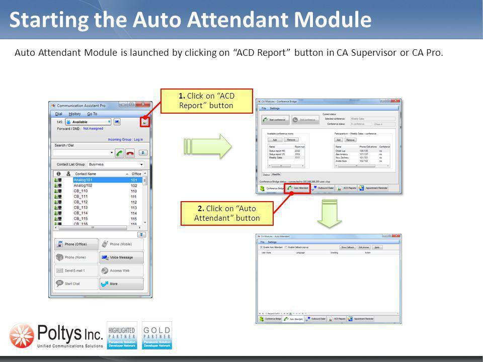 Starting the Auto Attendant Module