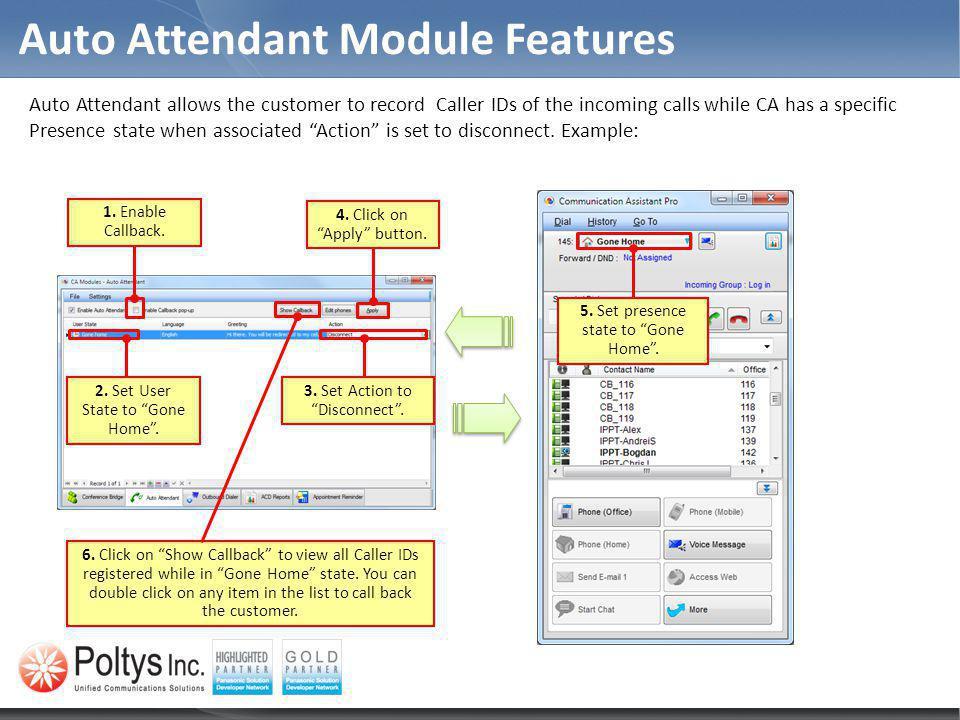 Auto Attendant Module Features