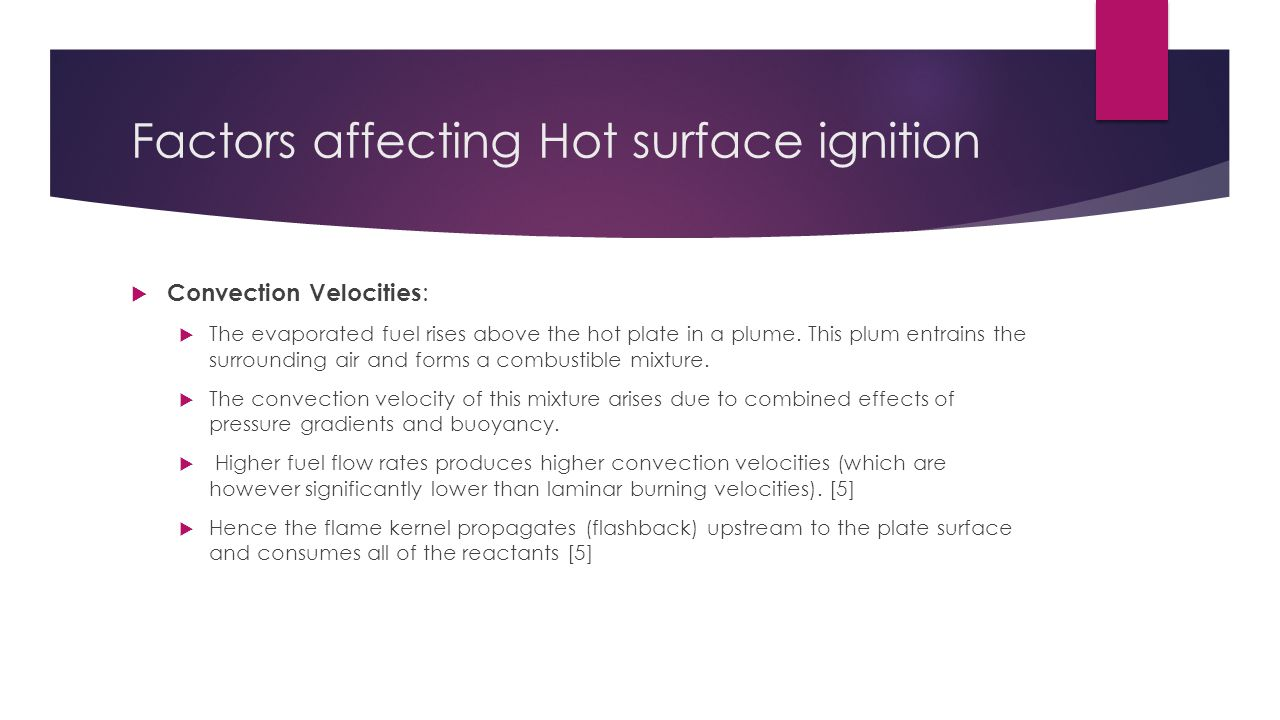 Factors affecting Hot surface ignition