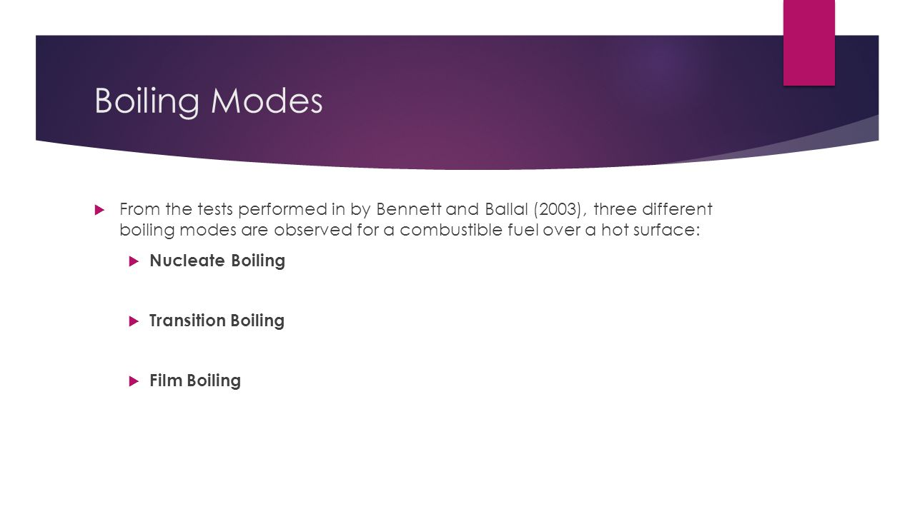 Boiling Modes