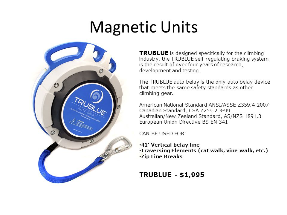 Magnetic Units TRUBLUE - $1,995