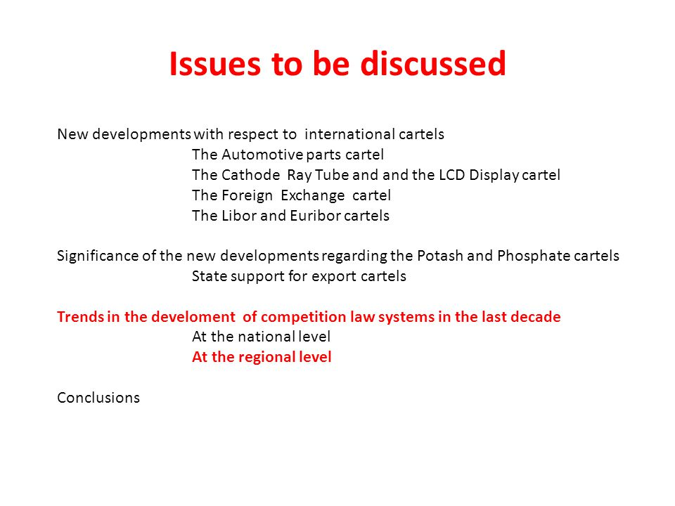 Issues+to+be+discussed+New+developments+with+respect+to+international+cartels.+The+Automotive+parts+cartel. international discipline on trade and competition an update ppt wire harness cartel at gsmx.co