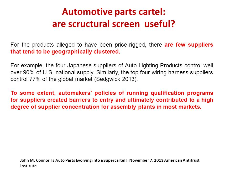 Automotive+parts+cartel%3A+are+scructural+screen+useful international discipline on trade and competition an update ppt wire harness cartel at creativeand.co