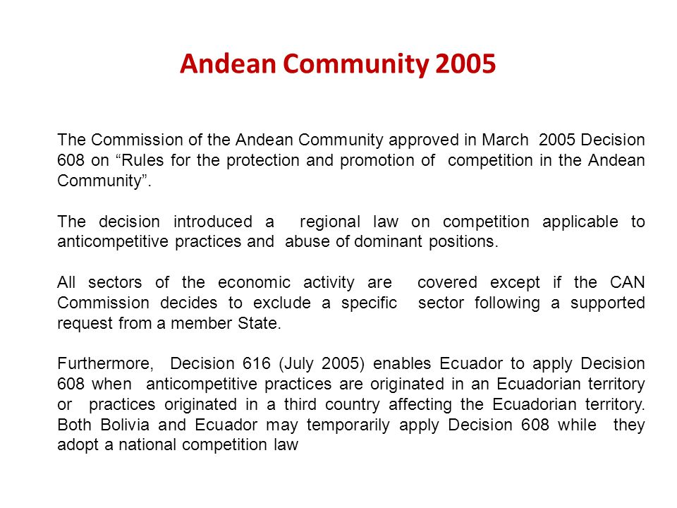 Andean Community 2005