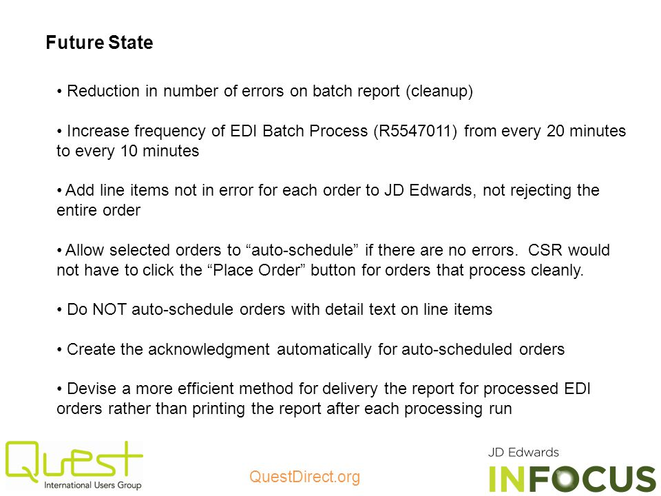 Future State Reduction in number of errors on batch report (cleanup)