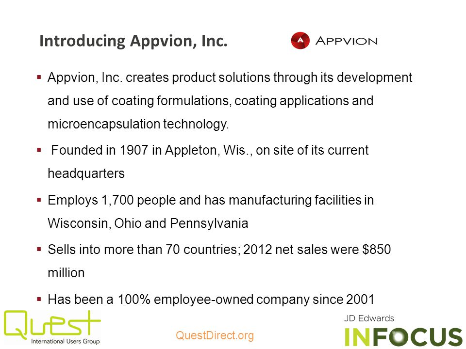 Introducing Appvion, Inc.