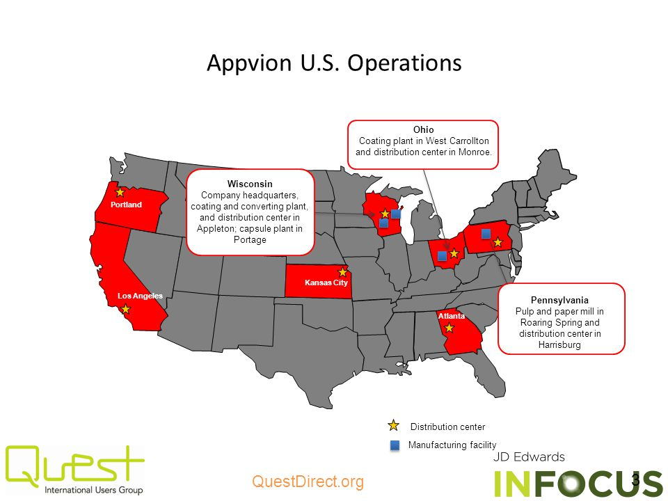 Appvion U.S. Operations Ohio Coating plant in West Carrollton and distribution center in Monroe.