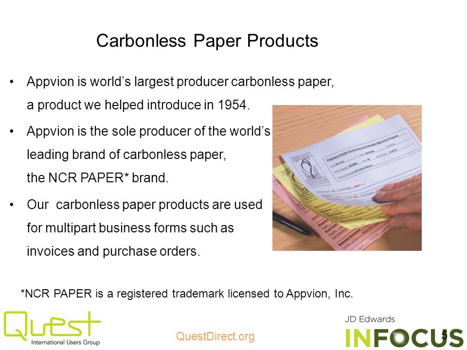 Carbonless Paper Products