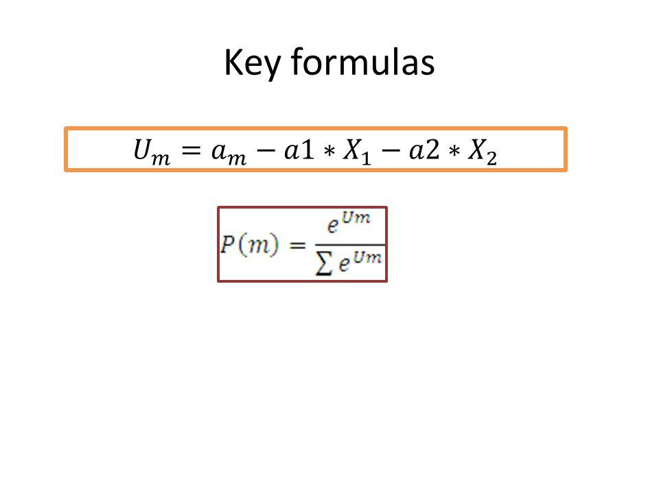 Key formulas 𝑈 𝑚 = 𝑎 𝑚 −𝑎1∗ 𝑋 1 −𝑎2∗ 𝑋 2