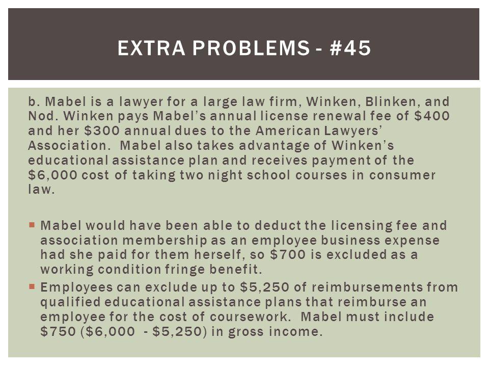 Extra problems - #45