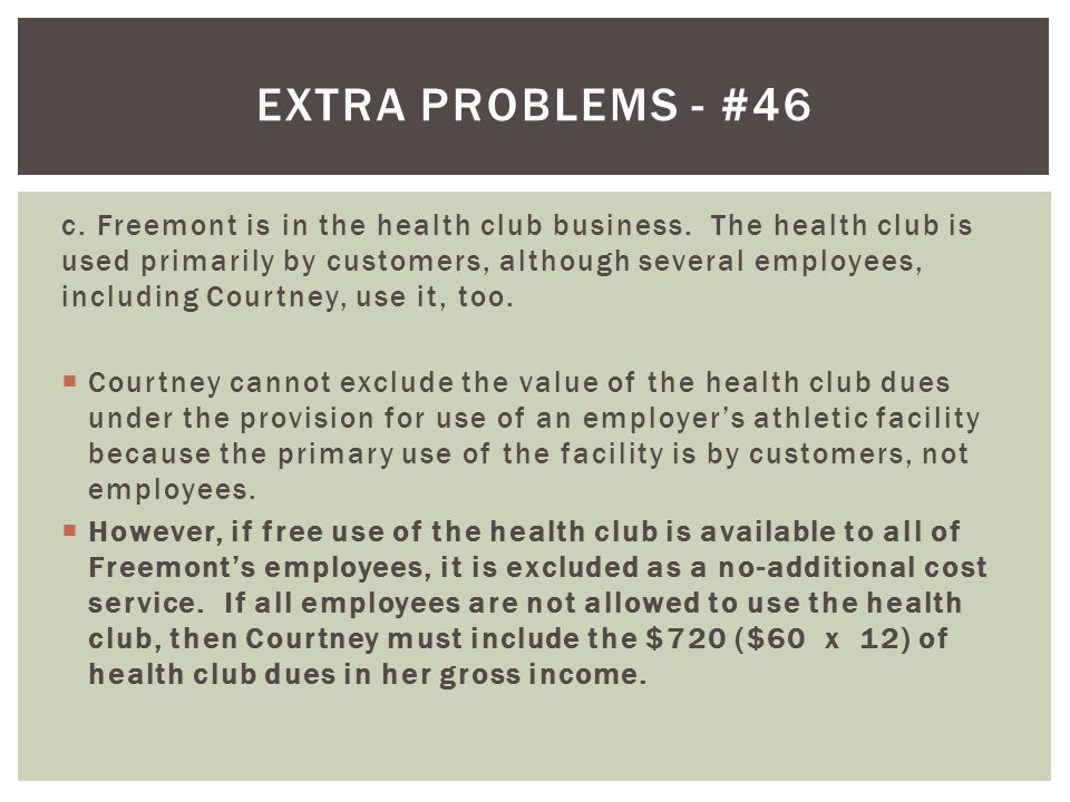 Extra problems - #46