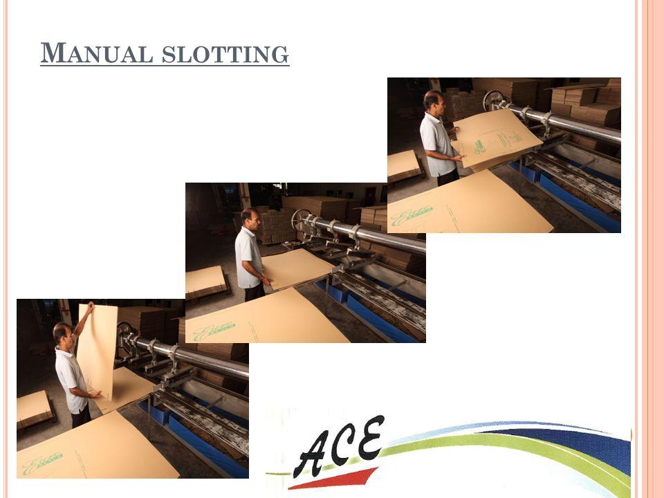 Manual slotting