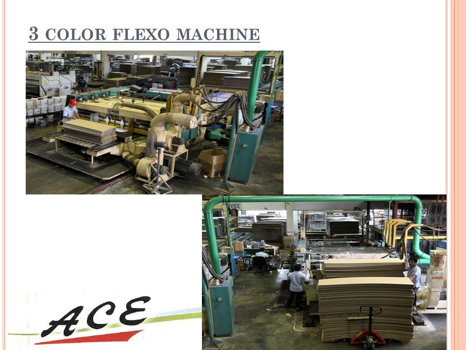 3 color flexo machine