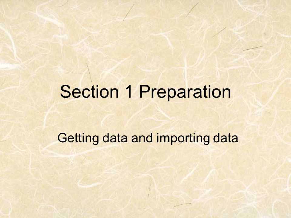 Getting data and importing data