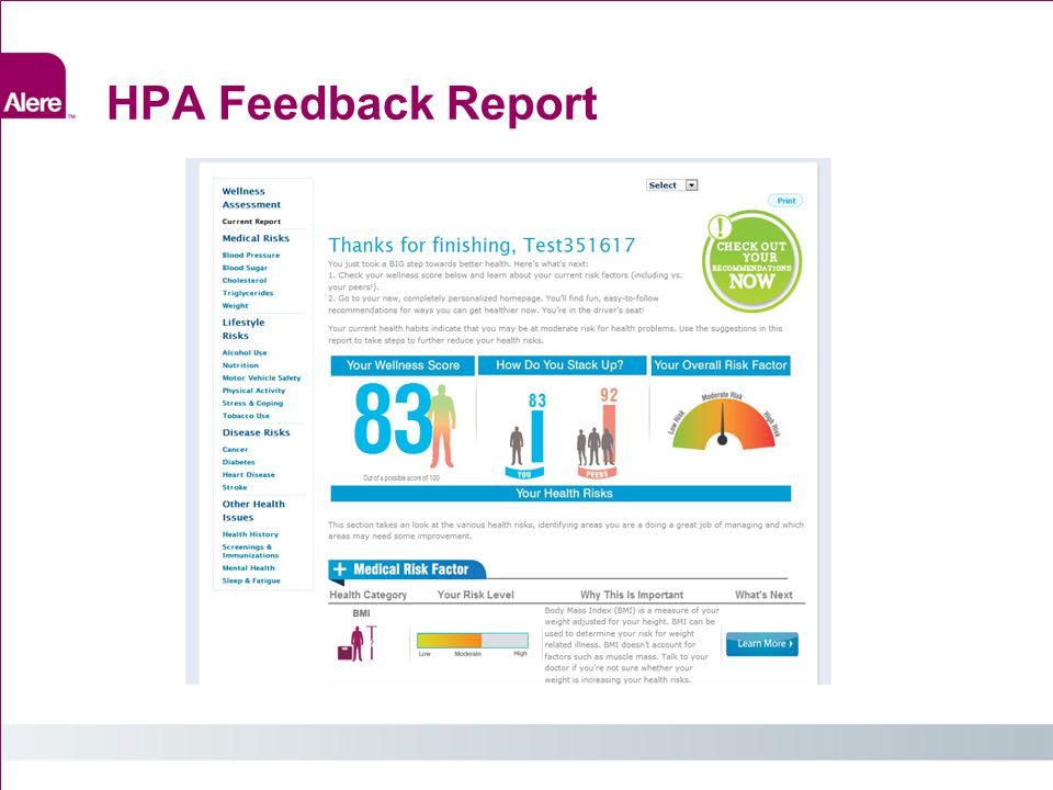 HPA Feedback Report