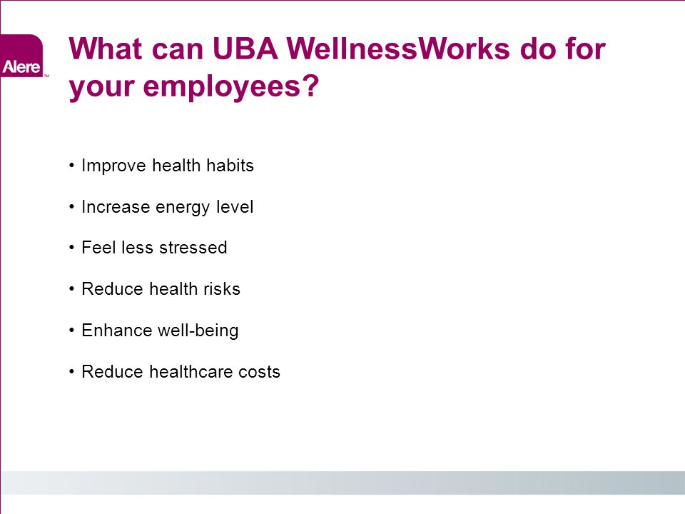 What can UBA WellnessWorks do for your employees