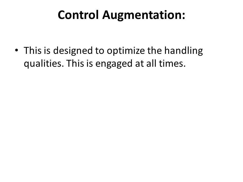 Control Augmentation: