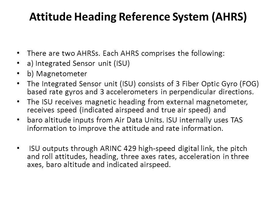 Attitude Heading Reference System (AHRS)