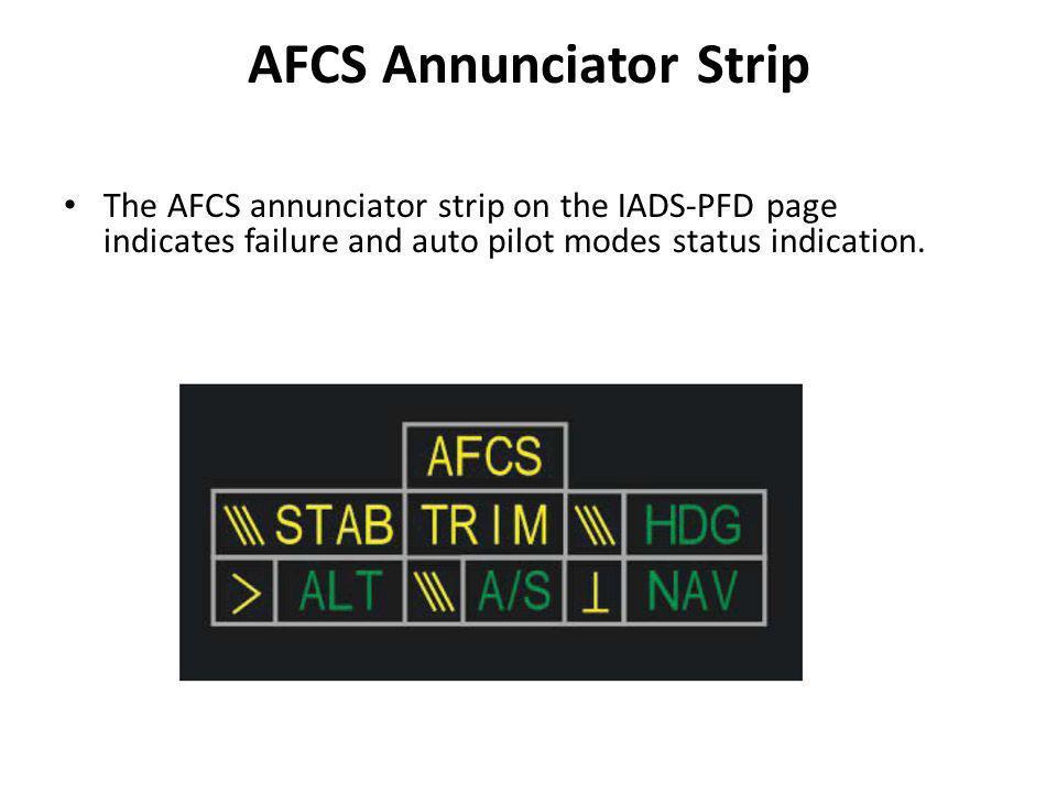 AFCS Annunciator Strip