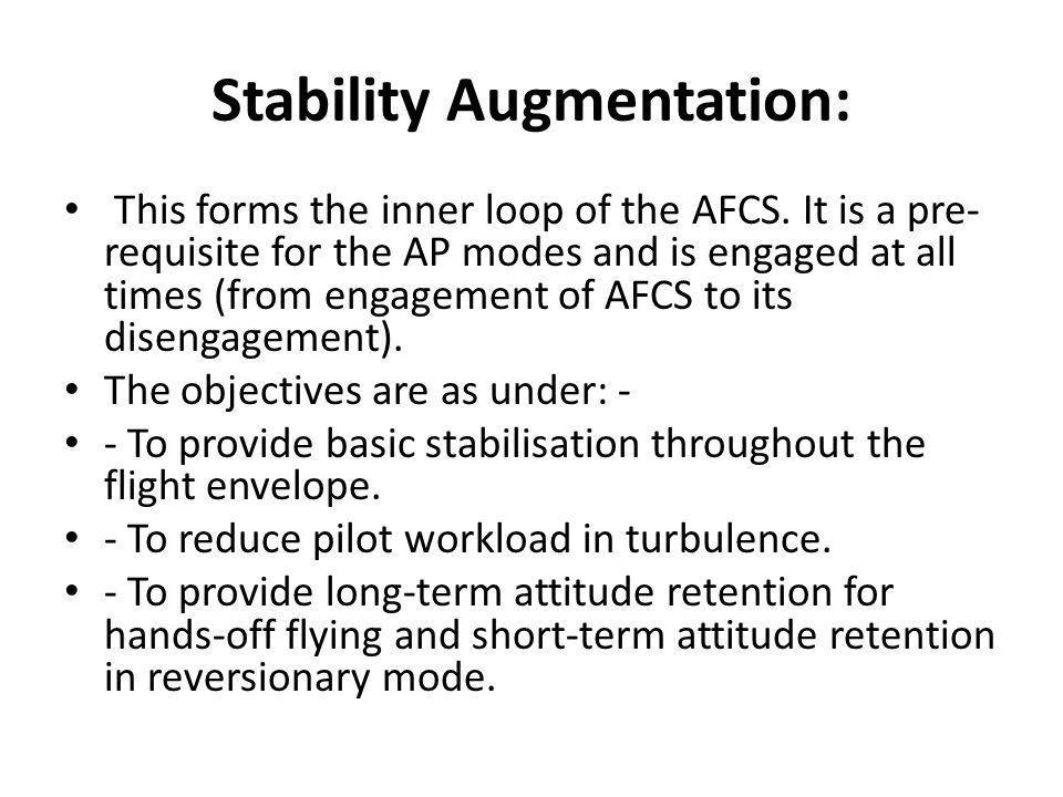 Stability Augmentation: