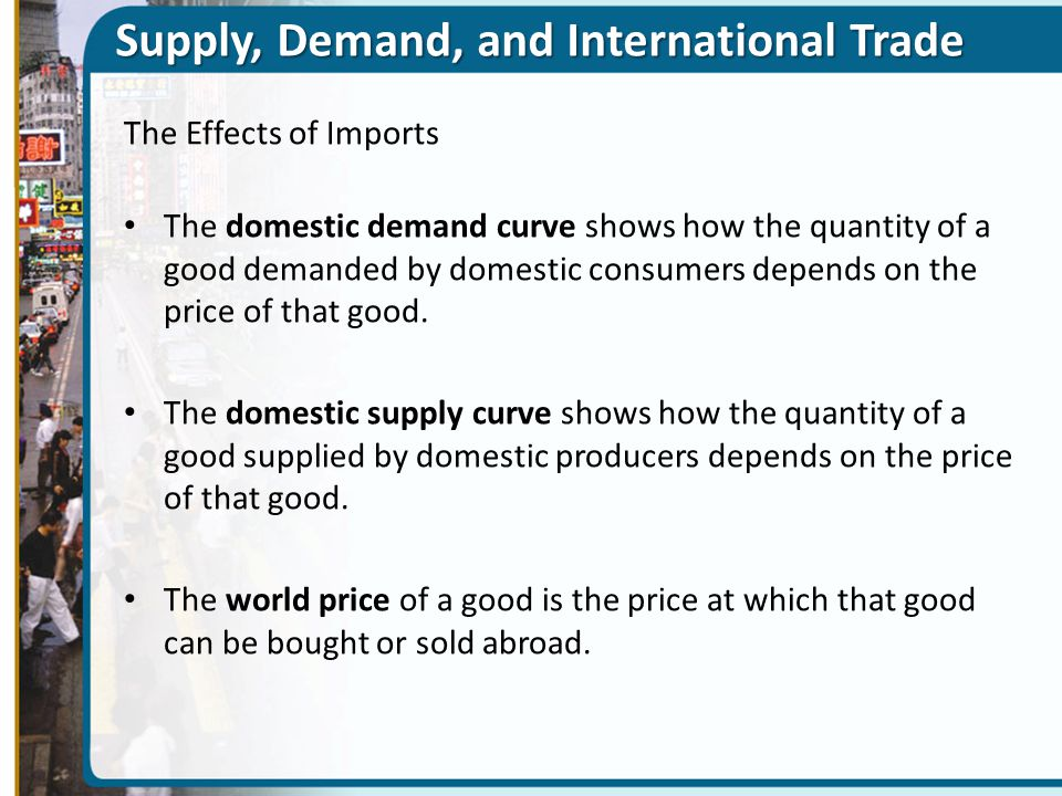 Supply, Demand, and International Trade