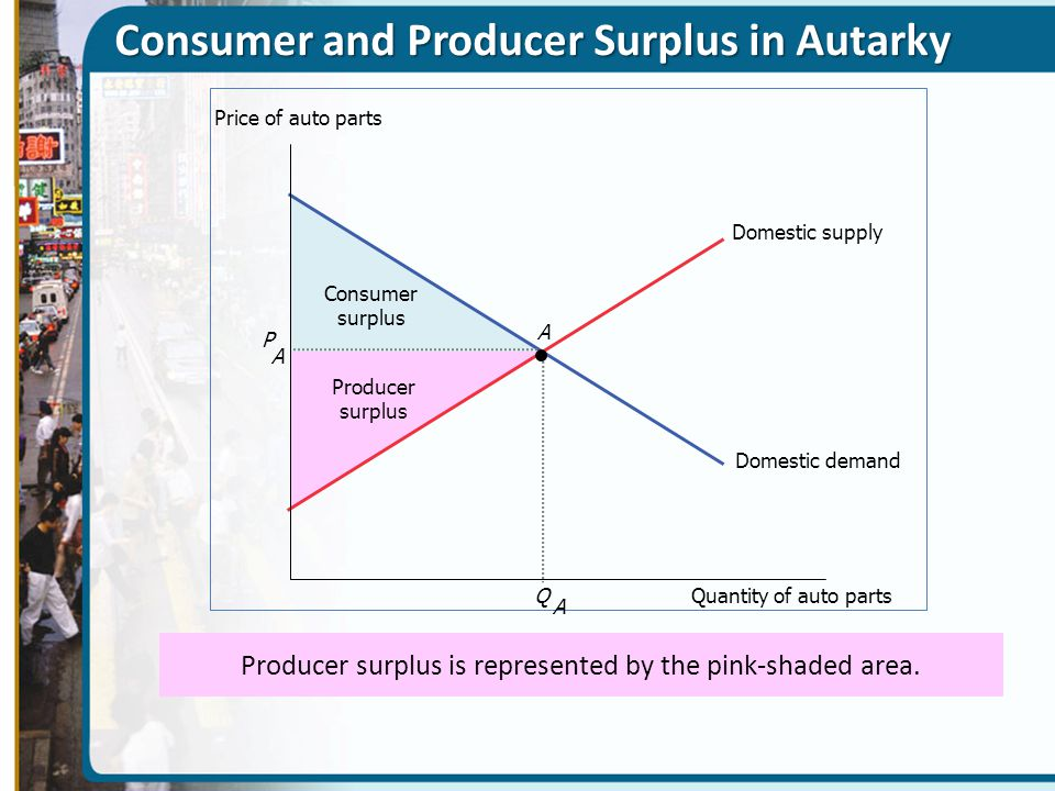 Consumer and Producer Surplus in Autarky