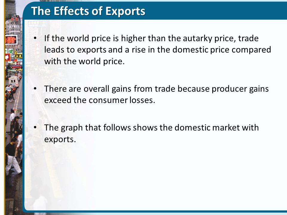 The Effects of Exports