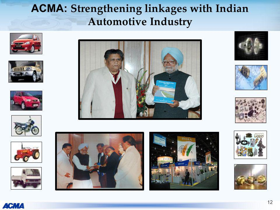 ACMA: Strengthening linkages with Indian Automotive Industry