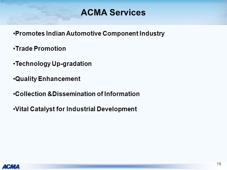 ACMA Services Promotes Indian Automotive Component Industry