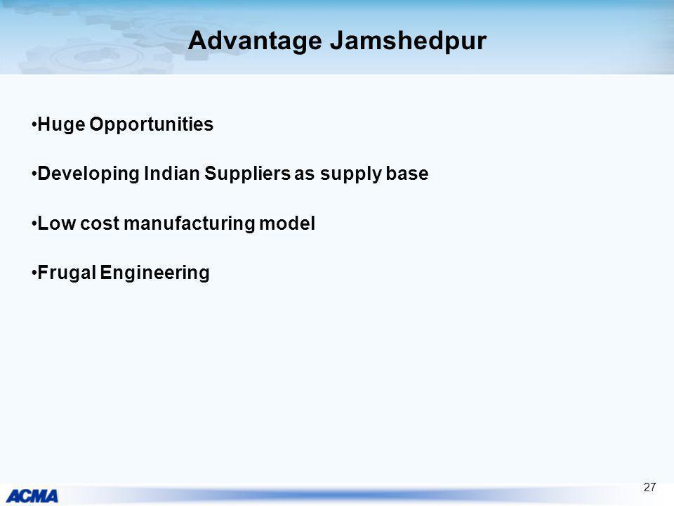 Advantage Jamshedpur Huge Opportunities