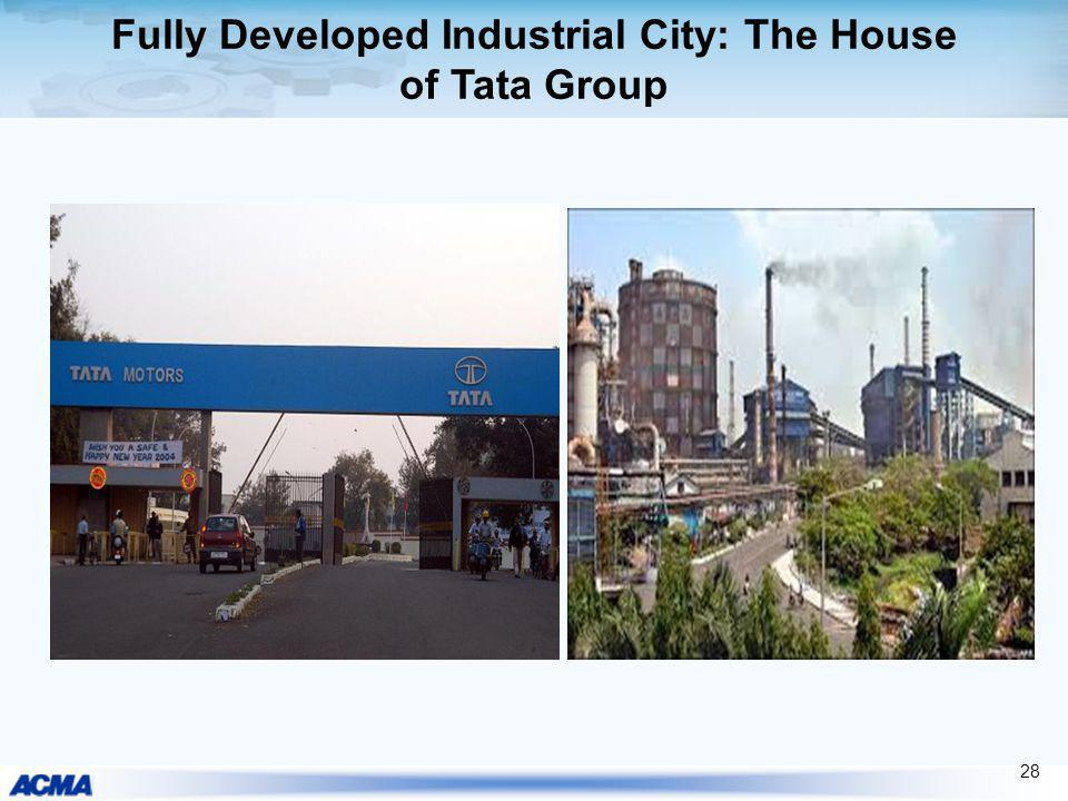 Fully Developed Industrial City: The House of Tata Group