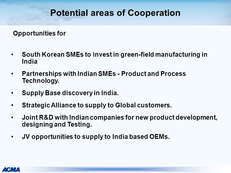 Potential areas of Cooperation