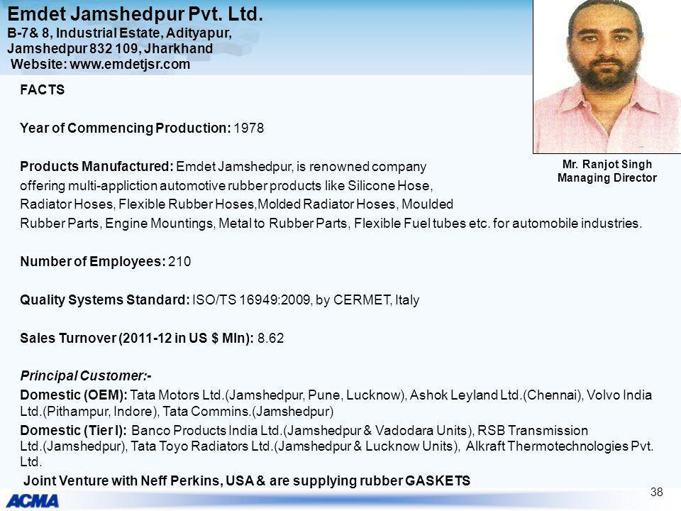 Emdet Jamshedpur Pvt. Ltd