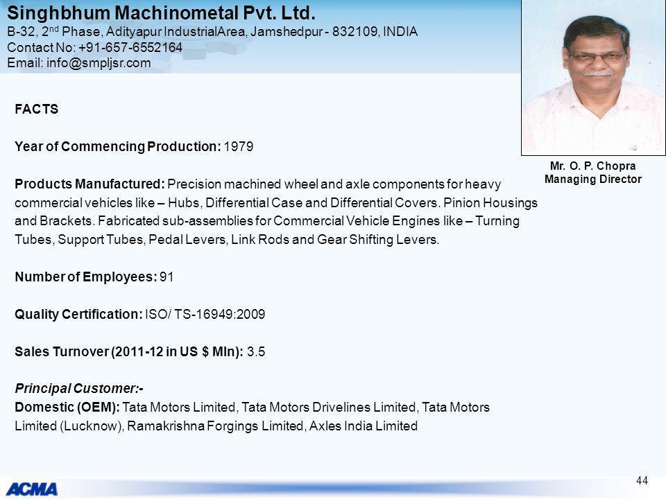 Singhbhum Machinometal Pvt. Ltd