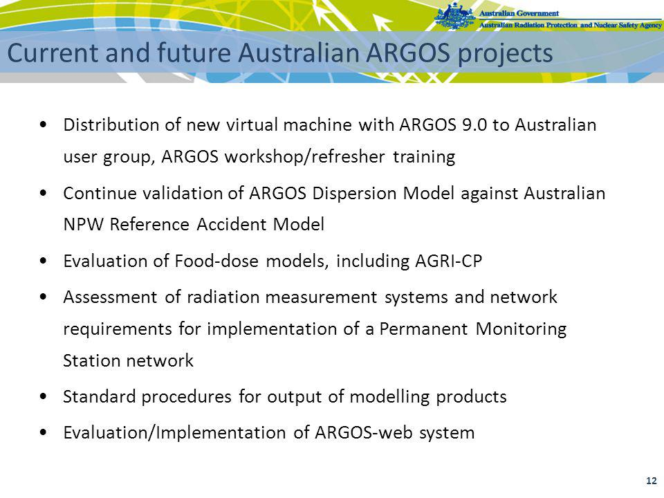 Current and future Australian ARGOS projects