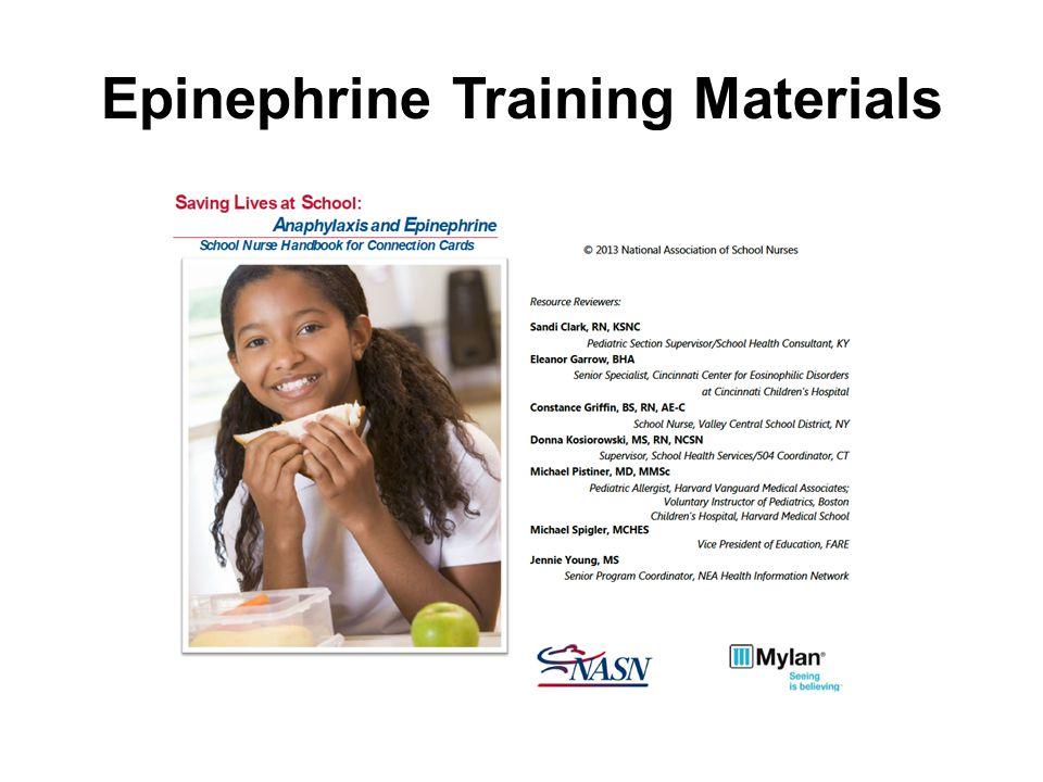 Epinephrine Training Materials