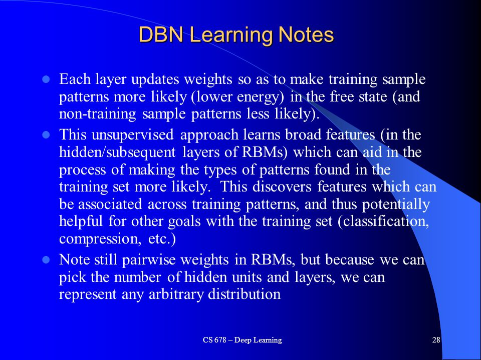 DBN Learning Notes
