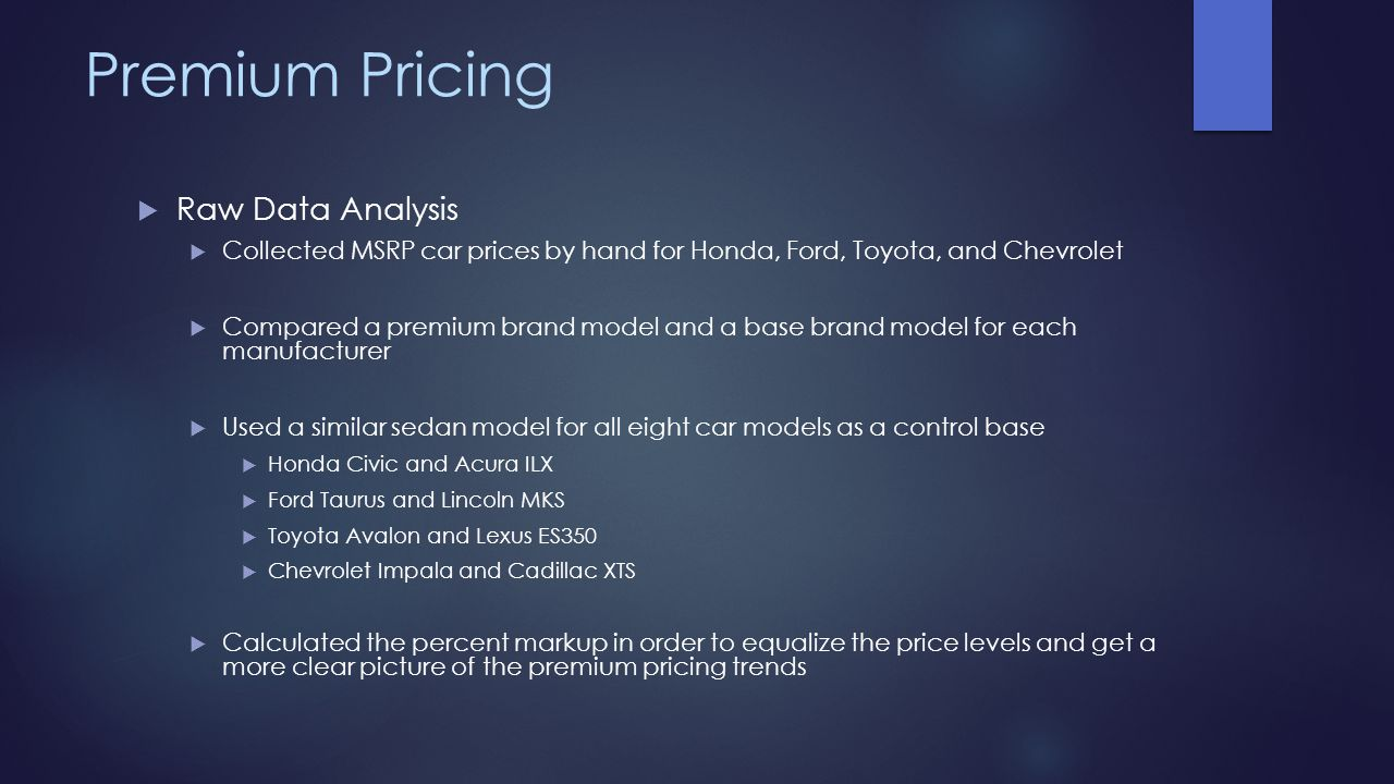 Premium Pricing Raw Data Analysis