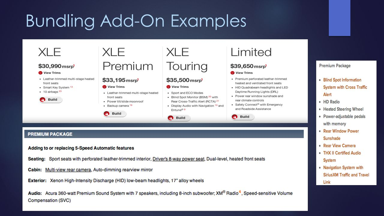 Bundling Add-On Examples
