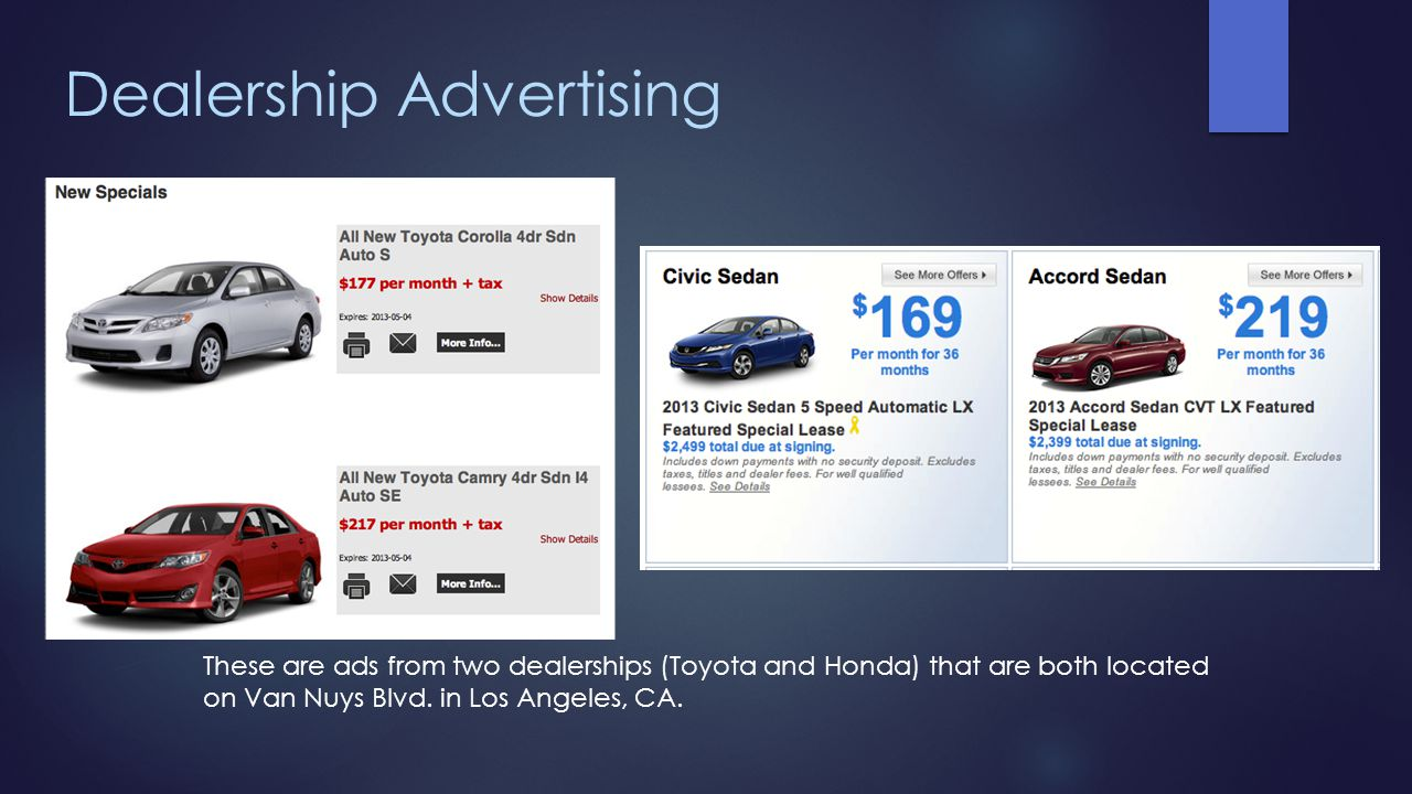 Dealership Advertising
